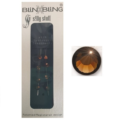 Blinx Bling Double Crystal Smoked Topaz