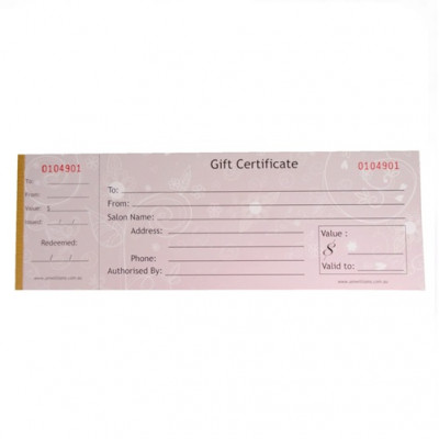 Gift Certificates - Book of 50