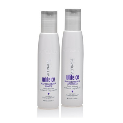 Affinage White Ice Blonde Shampoo/Conditioner 100ml DUO - SCOPE PROMOTION