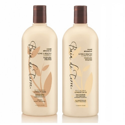 Bain De Terre Sweet Almond Oil Long & Healthy Shampoo/Conditioner Duo 1000ml