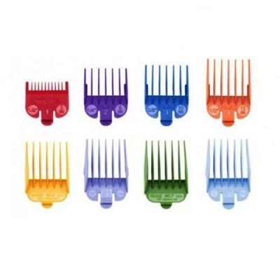 Wahl Attachment Comb Set - No. 1 to No. 8 -  8 piece set.(Coloured)